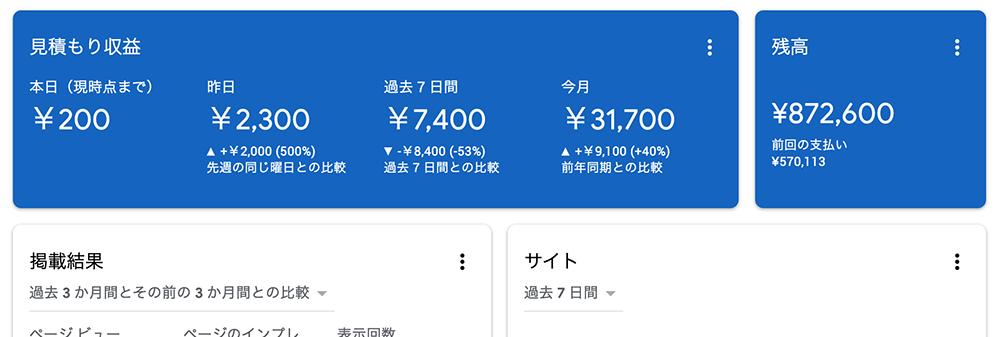 Google AdSense報酬